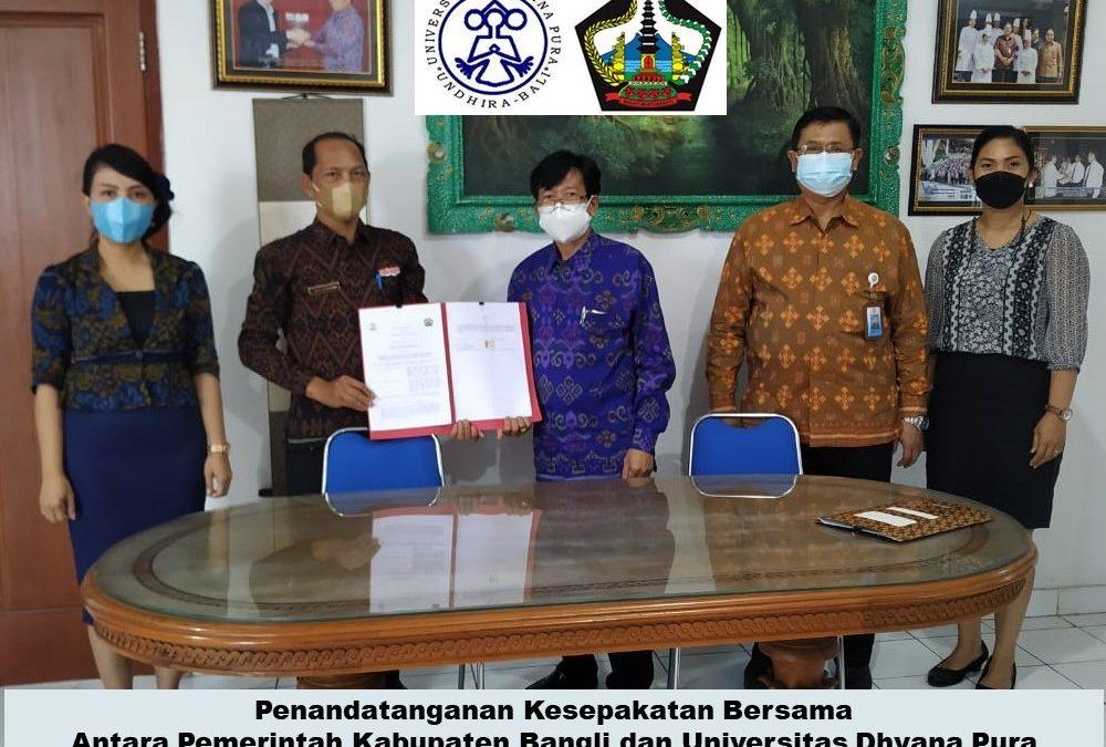 Pemerintah Kabupaten Bangli Tandatangani Kesepakatan Bersama dengan Undhira