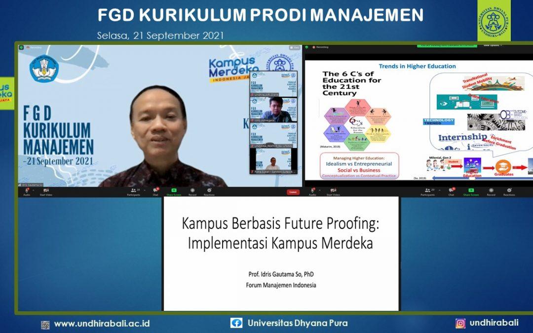 Prodi Manajemen Undhira Gelar FGD Kurilulum MBKB
