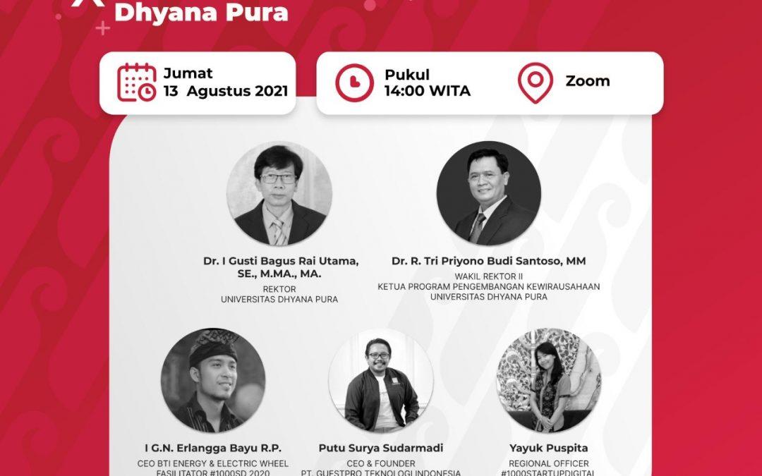 Roadshow Universitas Dhyana Pura  Gerakan Nasional1000 Startup Digital